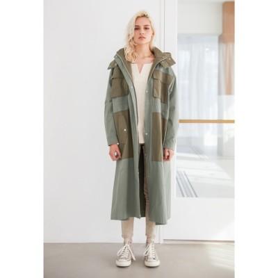ALEXIA STAM / Contrast Oversized Military Coat/コントラストオーバーサイズミリタリーコート WOMEN ジャケット/アウター > ミリタリージャケット