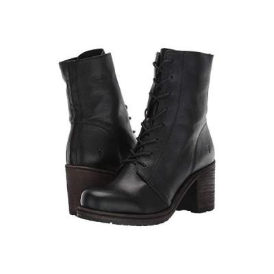 フライ Karen Combat レディース ブーツ Black Vegetable Tan Leather