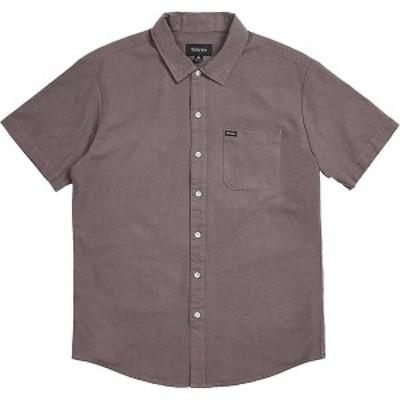 ブリクストン メンズ シャツ トップス Brixton Men's Charter Oxford SS Shirt Charcoal