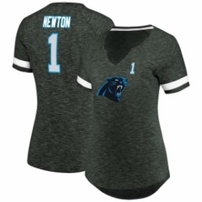 Majestic マジェスティック スポーツ用品  Majestic Cam Newton Carolina Panthers Womens Charcoal My Guy Name & Number