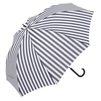 雨傘 日傘 ジャンプ傘 コンパクト UVカット シンプル おしゃれ かわいい| 長傘 晴雨兼用 ジャンプ 軽量 16ストライプ ネイビーブルー  KEYUCA(ケユカ)