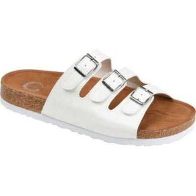 ジュルネ コレクション Journee Collection レディース サンダル・ミュール シューズ・靴 Desta Slide White Faux Leather