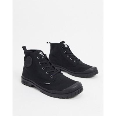 パラディウム メンズ ブーツ・レインブーツ シューズ Palladium pampa hi canvas boots in black