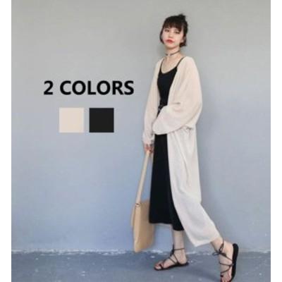 レディース ゆったり サマーコー 透け感 アウター紫外線対策 2020新作 薄手 紫外線カット  UVパーカー ロング丈 春夏 薄手 サマー 羽織り