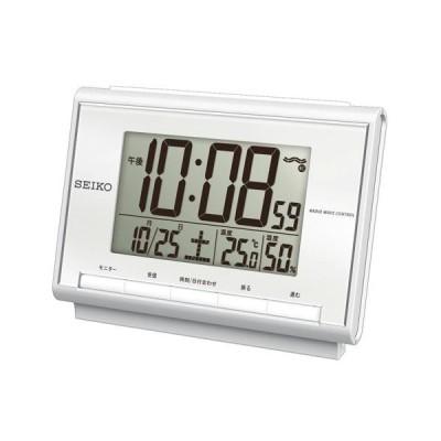 SEIKO セイコー デジタル電波時計(温度・湿度表示つき) SQ698S