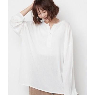 tシャツ Tシャツ 2WAY サイドスリット オーバーサイズ シアー カットソー
