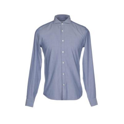 SAN PIETROBURGO シャツ ブルー 39 コットン 100% シャツ