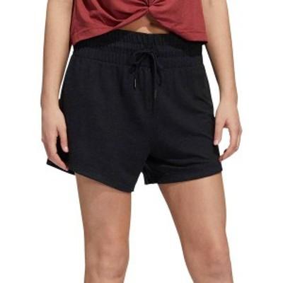 アディダス レディース ハーフパンツ・ショーツ ボトムス adidas Women's French Terry High Waisted Shorts Black