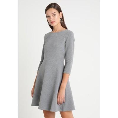トム テイラー レディース ファッション SKATER DRESS ROUND - Jersey dress - middle grey melange