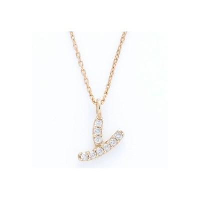 ソーイ sowi 【K10・ダイヤモンド】イニシャル ネックレス Y (ゴールド)