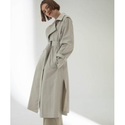 ELFF / FLAP DESGN TRENCH COAT / フラップデザイントレンチコート【ANT】 WOMEN ジャケット/アウター > トレンチコート
