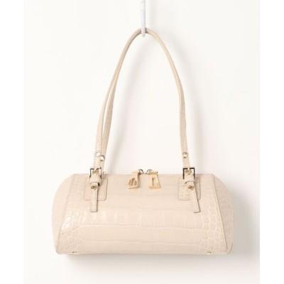 VITA ROSA / Falchi New York/ファルチニューヨーク イタリアンカーフクロコダイル型押しロールバッグ WOMEN バッグ > ハンドバッグ