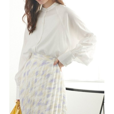 【ビス】 ラグランバンドカラーシャツ レディース オフホワイト F ViS