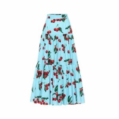 ドルチェ&ガッバーナ Dolce & Gabbana レディース ロング・マキシ丈スカート スカート cherry printed cotton maxi skirt Ciliegie Fondo