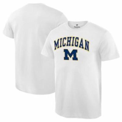 Fanatics Branded ファナティクス ブランド スポーツ用品  Fanatics Branded Michigan Wolverines White Campus T-Shir