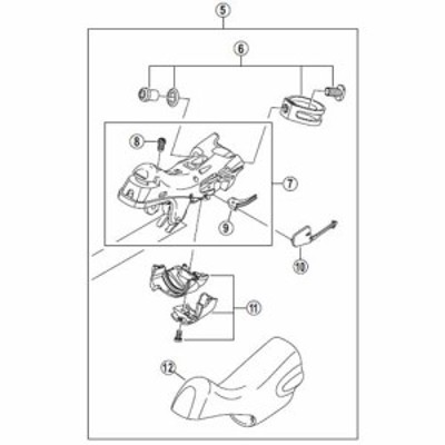[5]ブラケットユニット(右用) 【自転車】【ロードレーサー用】【ULTEGRA】【ST6800用スモールパーツ】
