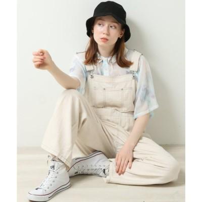 ダブルネーム DOUBLE NAME 綿麻ヘリンボーンオーバーオール (生成)