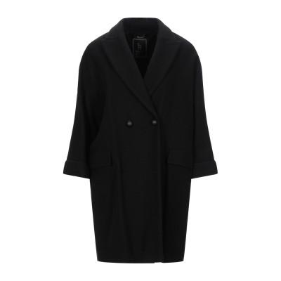 HANITA コート ブラック 44 ポリエステル 55% / レーヨン 45% コート