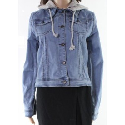 look ルック ファッション 衣類 Designer Brand NEW Blue Womens Size XL Hooded Layered Look Denim Jacket