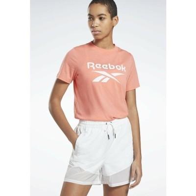 リーボック Tシャツ レディース トップス REEBOK IDENTITY LOGO T-SHIRT - Print T-shirt - red
