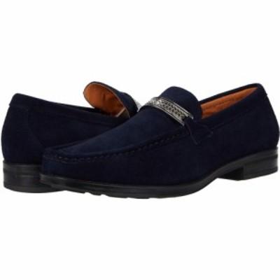 ステイシー アダムス Stacy Adams メンズ ローファー シューズ・靴 Reginald Suede Slip-On Loafer Navy