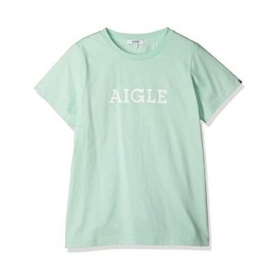[エーグル] CUT&SEWN 吸水速乾 エーグル グラフィック ロゴTシャツ レディース (ライトグリーン M)