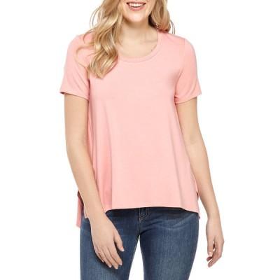 キュピオ Tシャツ トップス レディース Women's Solid Side Slit T-Shirt Flora Pink
