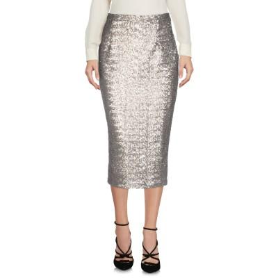 MAISON LAVINIATURRA 7分丈スカート シルバー 44 アセテート 100% 7分丈スカート
