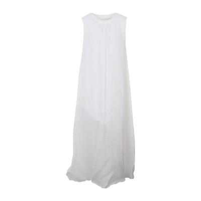 EUROPEAN CULTURE ロングワンピース&ドレス ホワイト S ラミー 70% / コットン 28% / ポリウレタン® 2% ロングワン