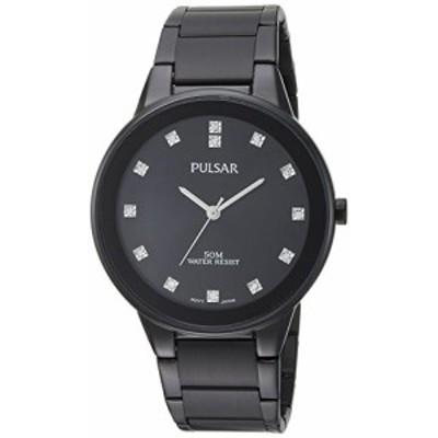 腕時計 パルサー SEIKO Pulsar Men's Quartz Watch with Stainless-Steel Strap, Black, 20 (Model: PG2051)