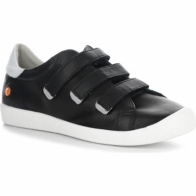 フライロンドン SOFTINOS BY FLY LONDON レディース スニーカー シューズ・靴 Sneaker Black/White Leather