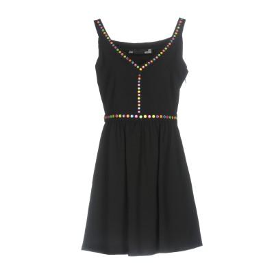 ラブ モスキーノ LOVE MOSCHINO ミニワンピース&ドレス ブラック 42 98% ポリエステル 2% ポリウレタン ミニワンピース&ドレス