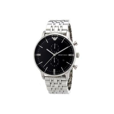 EMPORIO ARMANI エンポリオアルマーニ 腕時計 ブラックダイアル クラシック クロノグラフ 並行輸入品 AR0389