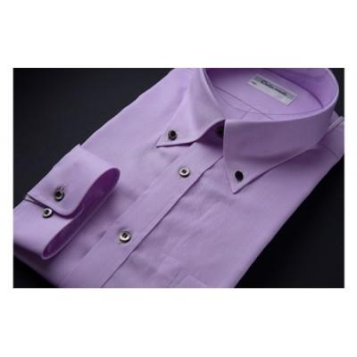オーダーワイシャツOBP(ノーアイロン仕様)-オリジナルネーム入り川西町産「黒蝶貝」の貝ボタンを使用-