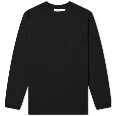ノンネイティブ Nonnative メンズ 長袖Tシャツ トップス long sleeve dweller classic tee Black