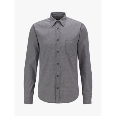 ヒューゴボス シャツ メンズ トップス BOSS Marvyn Poplin Slim Fit Shirt, Black