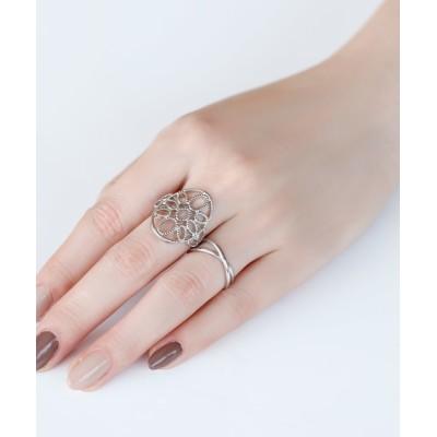 指輪 透かしレースのリング[オーバル]