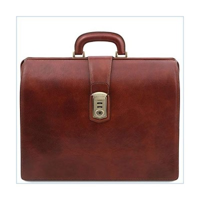 Tuscany Leather Canova Leather Doctor bag briefcase 3 compartments - TL141826 (Brown)並行輸入品