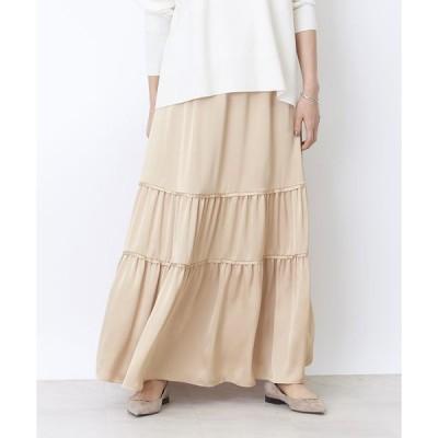 Rouge vif la cle / ルージュ・ヴィフ ラクレ 切り替えギャザースカート