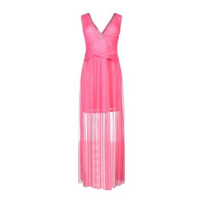 X'S MILANO ロングワンピース&ドレス コーラル 44 ポリエステル 100% ロングワンピース&ドレス