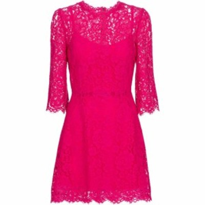 ドルチェandガッバーナ Dolce and Gabbana レディース ワンピース ミニ丈 ワンピース・ドレス lace minidress Ciclamino