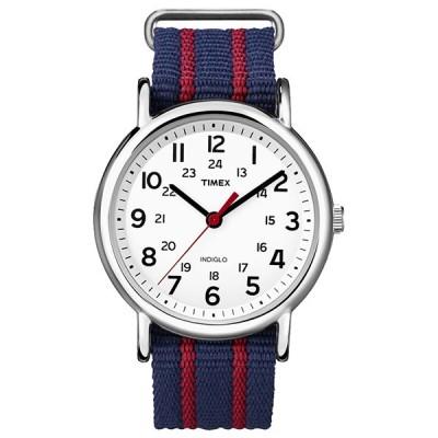 TIMEX タイメックス WEEKENDER セントラルパーク ブルー/レッド T2N747 メンズ腕時計 国内正規品