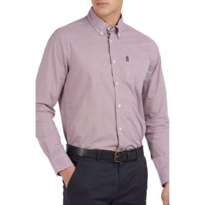 バブアー BARBOUR メンズ シャツ トップス Tailored Fit Gingham Check Button-Down Shirt Red