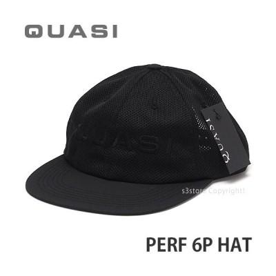 クワージー ハット QUASI PERF 6P HAT スケートボード スケボー キャップ 帽子 コーデ SKATEBOARD CAP カラー:BLACK