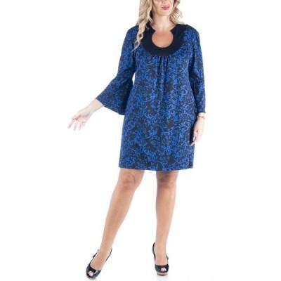 24セブンコンフォート ワンピース トップス レディース Women's Plus Size Paisley Print Dress Multi