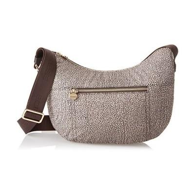 Borbonese Luna Con Tasca, Women's Cross-Body Bag, Brown (Op Classico Marrone), 28x24x11 cm (W x H x L) 並行輸入品