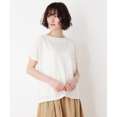 SHOO・LA・RUE / フェイクパール付きタックスリーブプルオーバー WOMEN トップス > Tシャツ/カットソー
