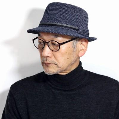 アルペン 紳士帽子 KNOX ハウンドトゥース柄 サーモトロンラジポカ ノックス ハット メンズ 帽子 秋冬小物 日本製 グレー