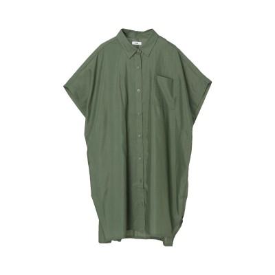 肩タックシャツチュニック