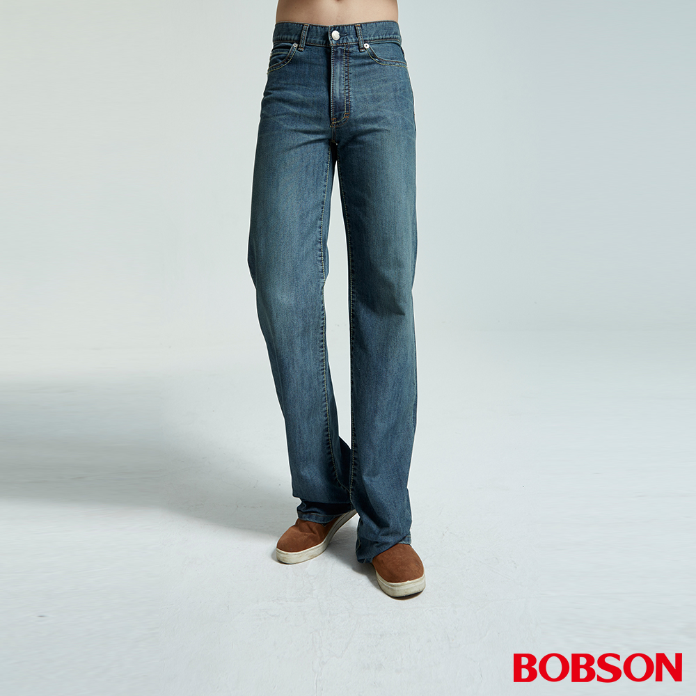 BOBSON 男款小尻革命大直筒牛仔褲(1697-53)